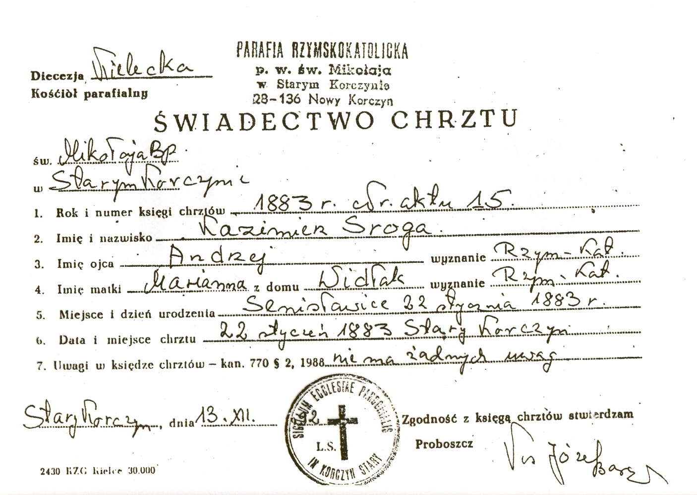 search results for �roman catholic baptism certificate